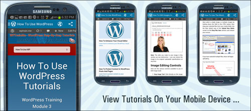 Access tutorials on your mobile device