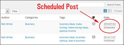 Scheduling WP Blog Posts