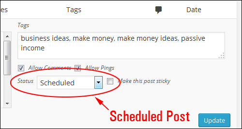 How To Schedule WP Blog Posts For Publishing Later