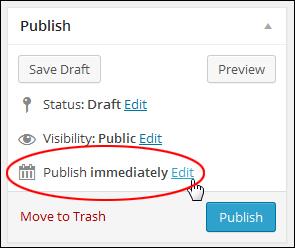 Scheduling Your Posts In WordPress