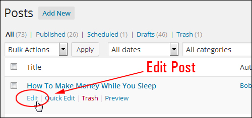 How To Schedule WP Blog Posts For Publishing At A Later Date And Time