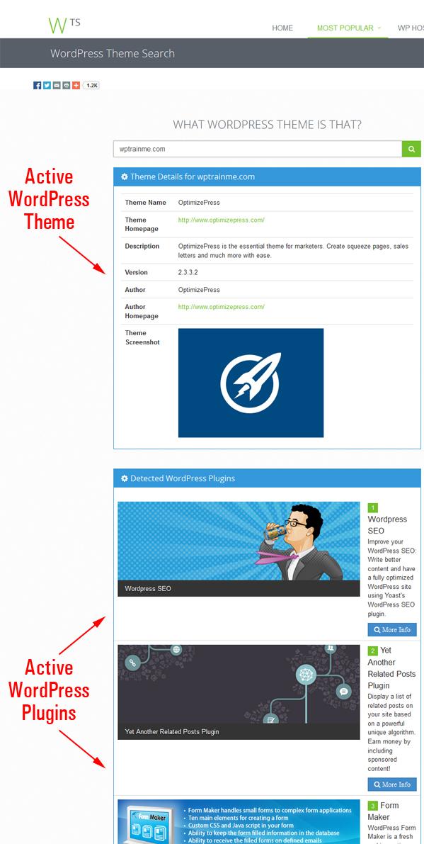 WhatWPThemeIsThat.com - WP Theme Checking Tool