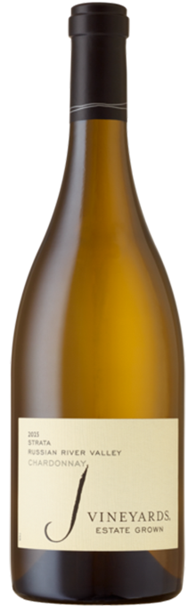 Crisp and focused, the distinctive 2015 J Vineyards STRATA Chardonnay leads with creamy lemon curd, orange zest and tart pear aromatics, backed by subtle hints of oak spiciness.