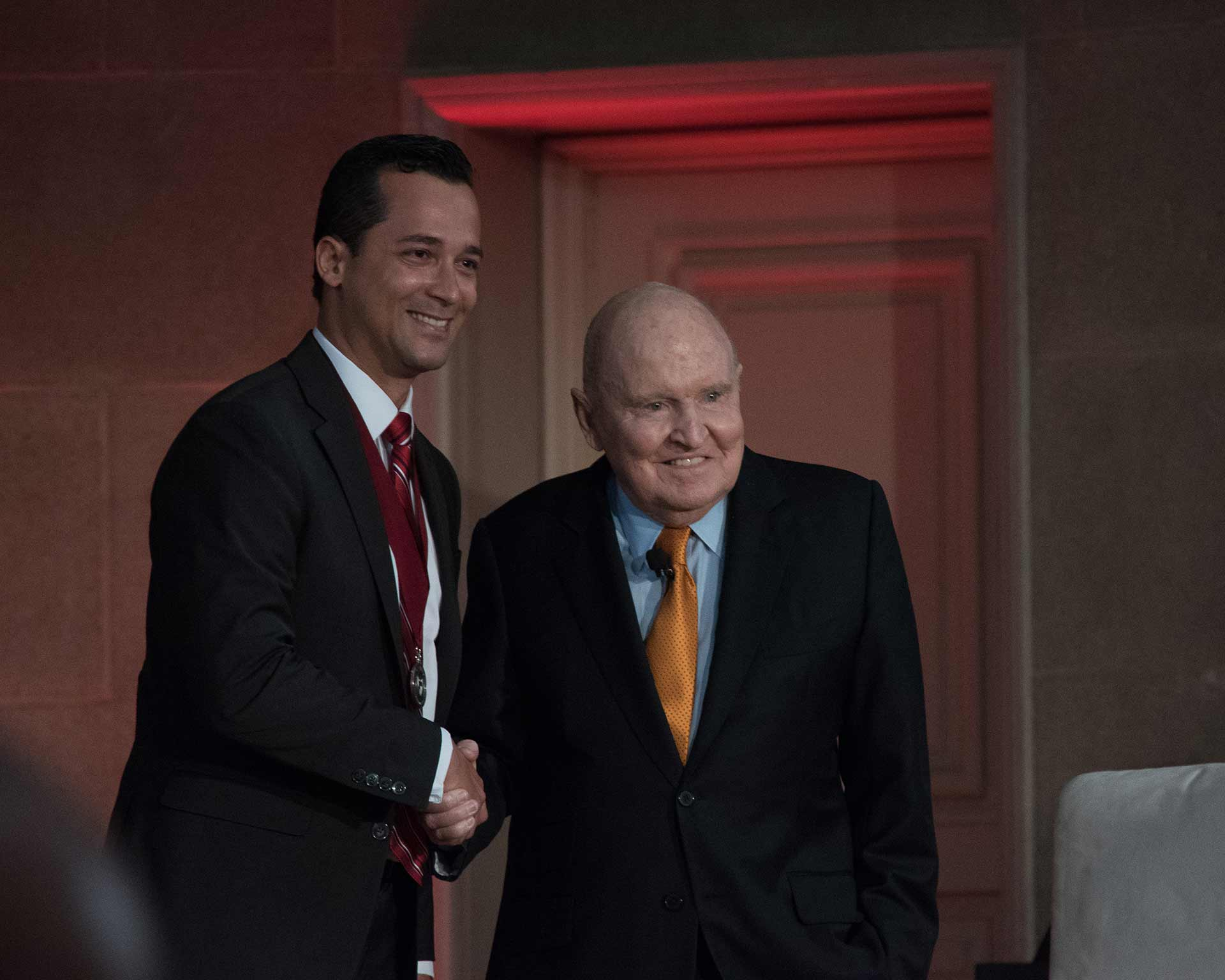 Luis Ferreira and Jack Welch