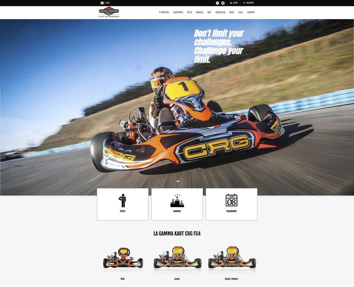 The Briggs Kart Championship website is now online - Kart360