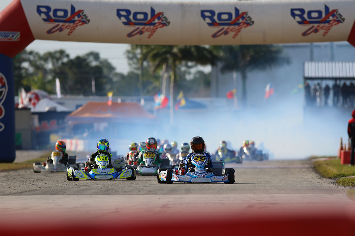 The start of a race at the ROK Cup Florida Winter Tour in West Palm Beach, Florida