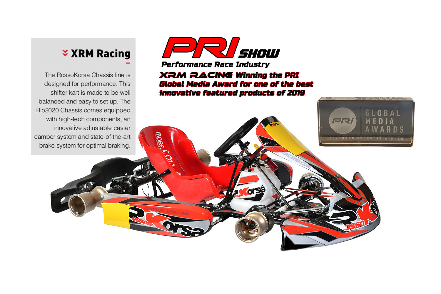 XRM Racing awarded Most Innovative Product of 2019 at PRI - Kart360