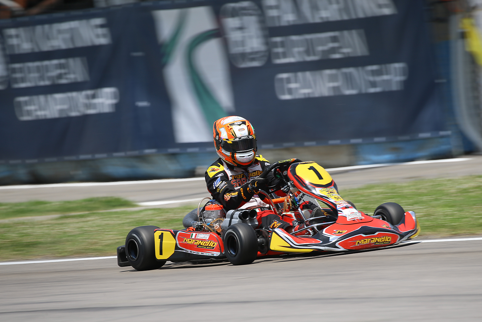 Fabian Federer full speed on track in Sarno