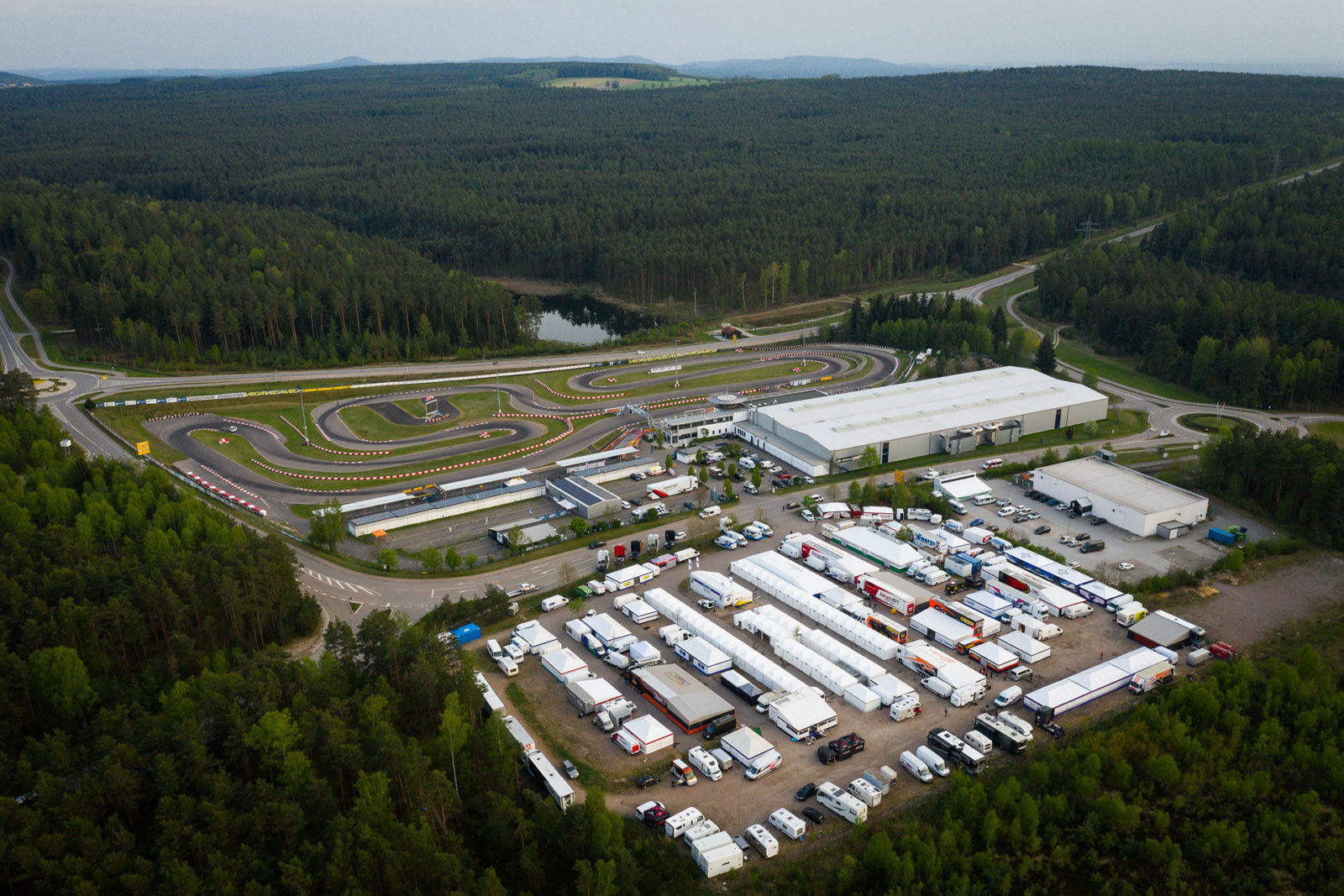 Aerial of Prokart Raceland in Wackersdorf