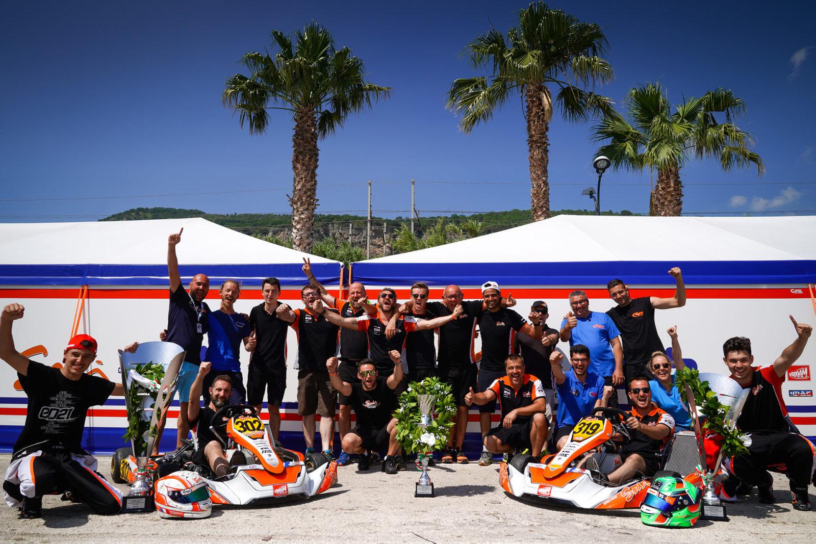 CPB Sodi Kart team celebration