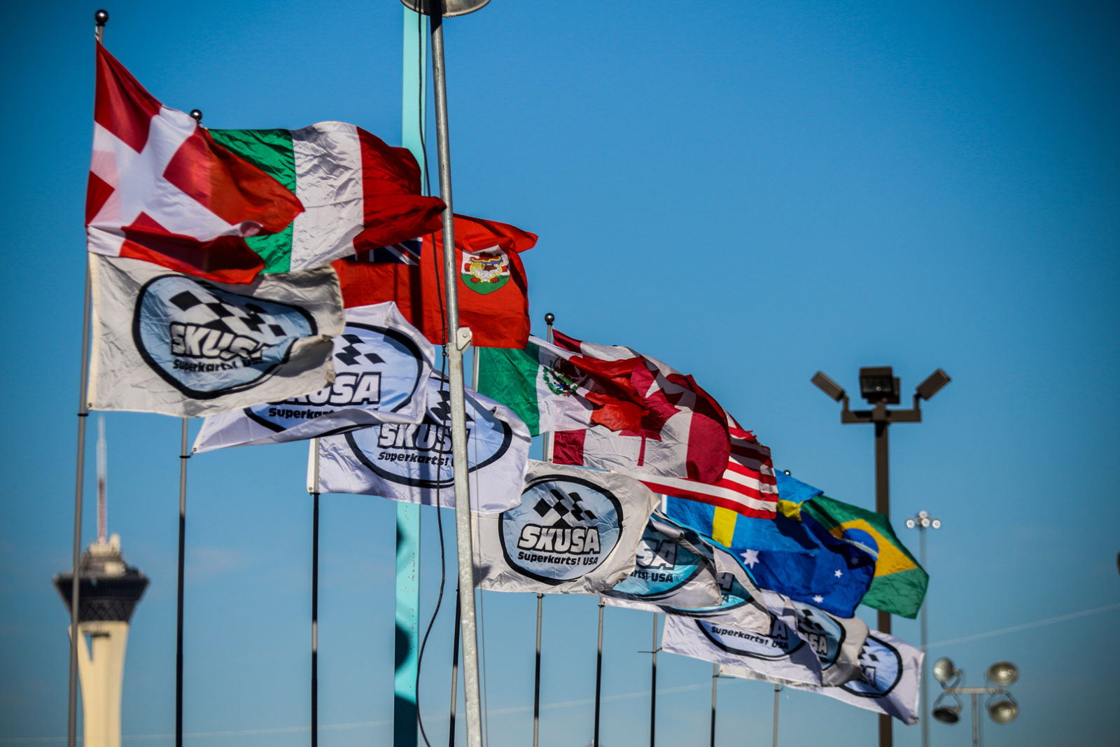 SKUSA and International Flags