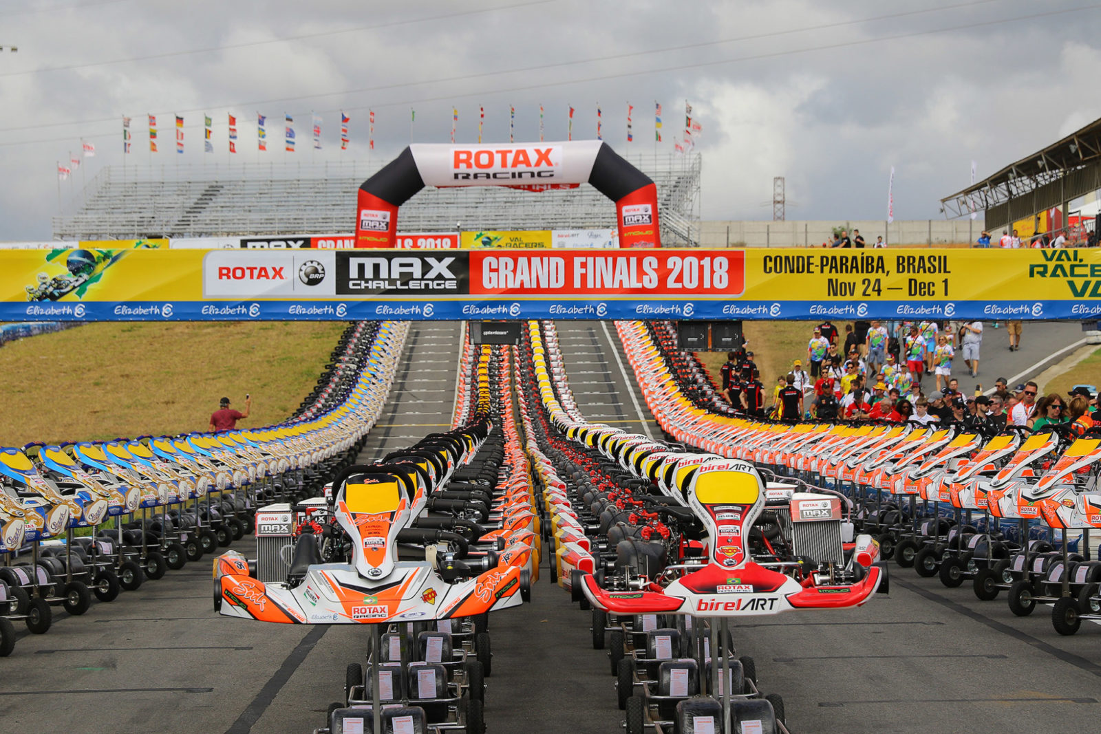 Presentation of karts at the 2018 Rotax Max Challenge Grand Finals, Brazil