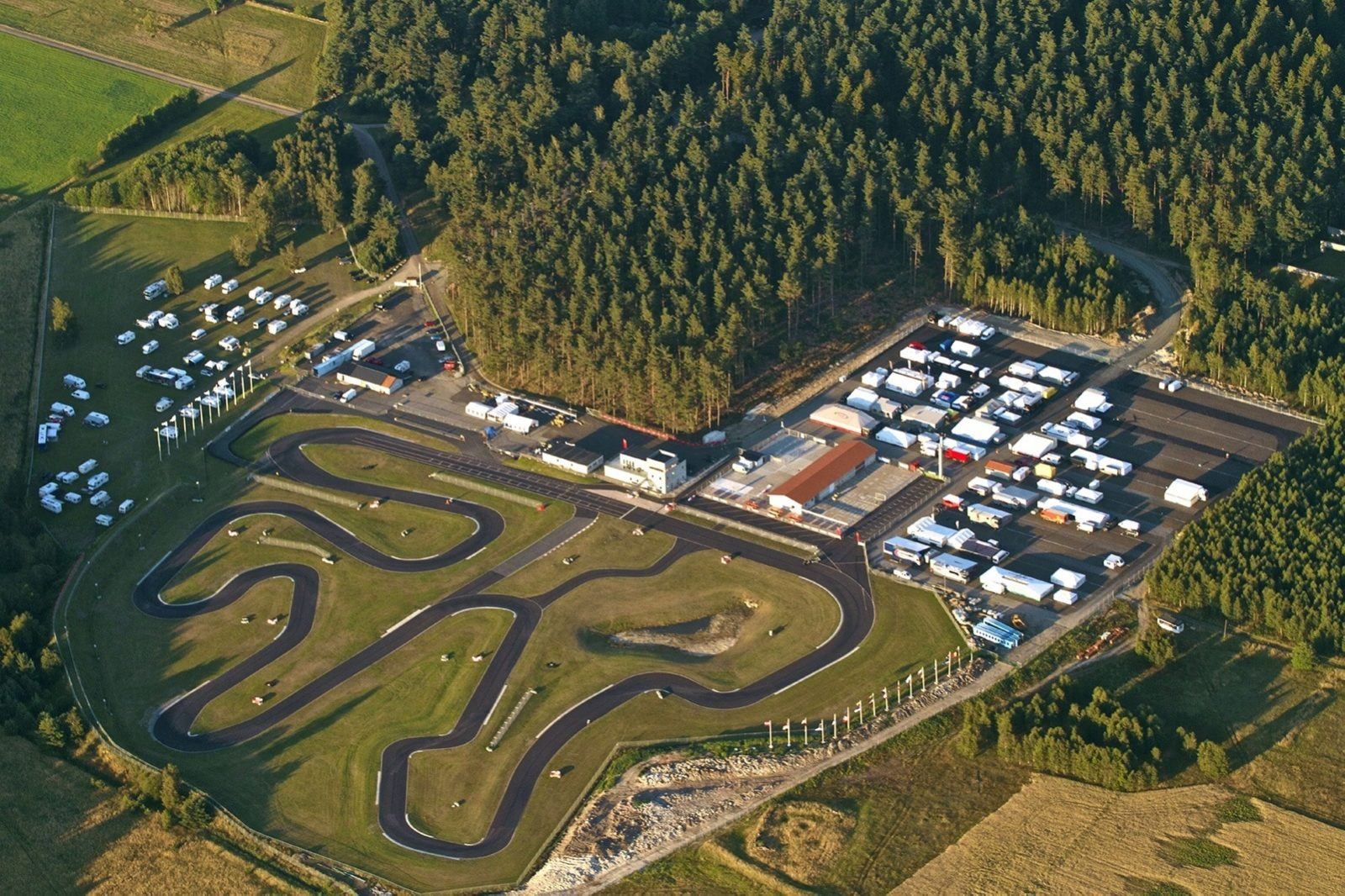 Kristianstad Karting Club aerial view