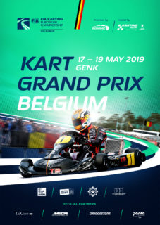 2019 FIA Karting European Championship OK/Junior Round 2 logo