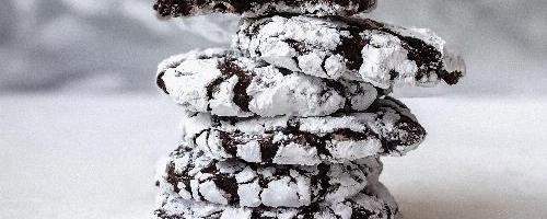 Chocolate Espresso Crinkle Cookies