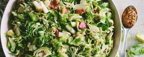 Brussels Sprout Salad W/ Pepper Jelly Vinaigrette