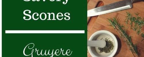 Rosemary Gruyere Savory Scones