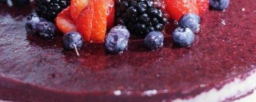 Raw Mixed Berry Cheesecake
