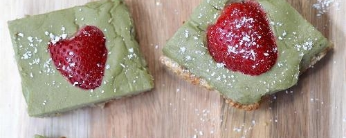 Strawberry Lime Matcha Bars