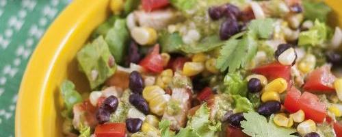 Santa Fe Salad With Cilantro Lime Peanut Vinaigrette