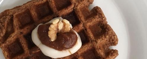 Spiced Apple Butter Waffles