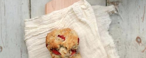 Strawberry And Black Pepper Biscuits