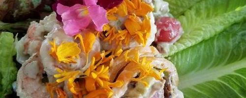 Shrimp Salad With Marigolds