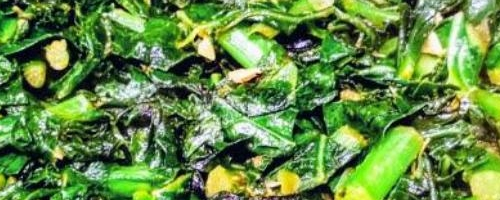 Sautéed Collards W/ Garlic & Sherry
