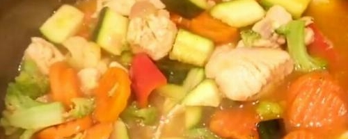Organic Chicken Breast  Vegetables Soup