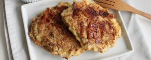 Maple Cinnamon Matzo Brei Pancakes