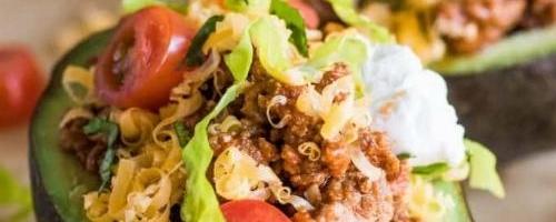 Keto Avocado Taco Boat