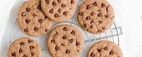 Flourless Nutella Chocolate Chip Cookies