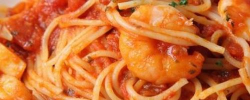 Spaghetti with Shrimp and Creamy Tomato Sauce