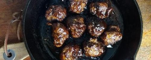 Smokey Lapsang Meatballs & Bbq Sauce