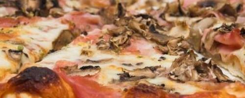 Mushroom, Sausage, and Red Onion Pizza