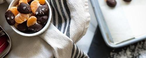Sea Salt   Dark Chocolate Dipped Mandarin Slices