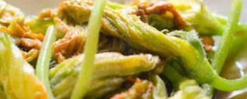 Vegetarian Stir Fried Squash Blossoms Recipe