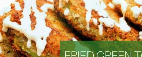 Fried Green Tomatoes (vegan)