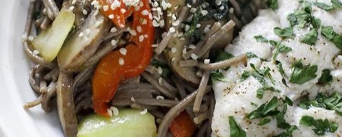 Sweet Basil & Portabello Thai Noodle Bowl