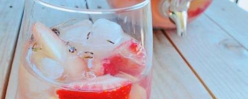White Peach & Lavender Rosé Sangria