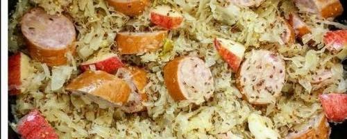Slow Cooker Apple-dijon Sausage & Sauerkraut