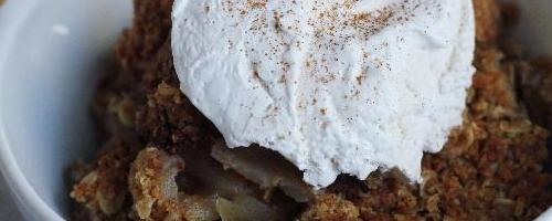 Maple Apple-pear Crisp