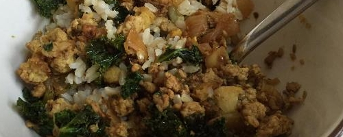 Chicken, Kale & Cauliflower Curry bowl