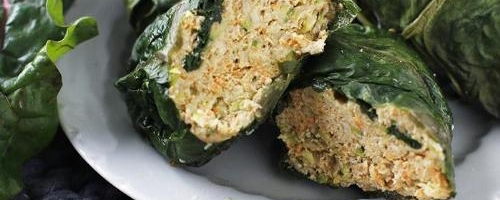 Turkey Chard Roll-ups With Avocado Sauce