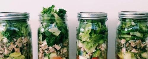 Mediterranean Pesto Chicken Salad....in A Jar