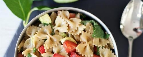 Strawberry Bruschetta Pasta