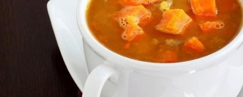 Red Lentil Soup with Sweet Potato and Apples