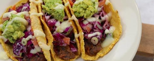 Vegan Tacos With Cabbage Slaw