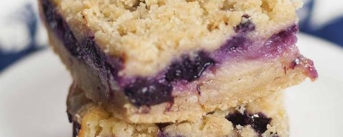 Blueberry Crumb Pie Bars