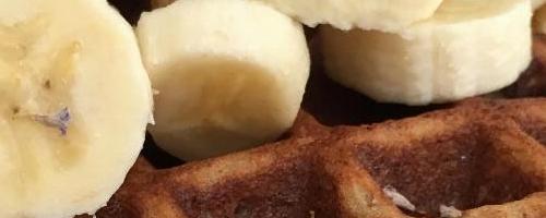 Lavender Banana Waffles